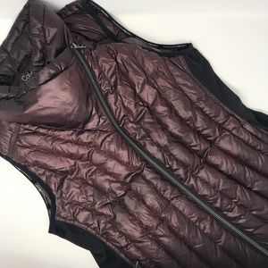 Calvin Klein Performance Drama Collar Down Vest